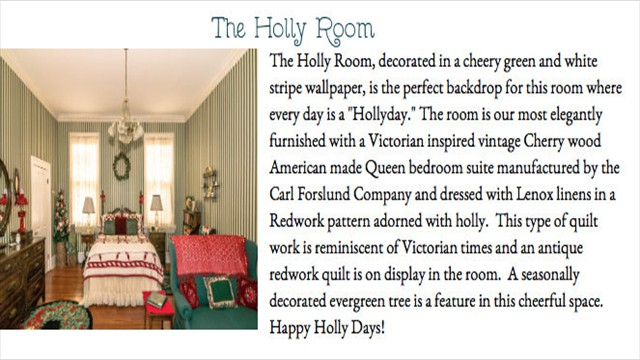 The Holly Room New Rooms Overview Slider